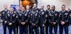 Eleven Soldiers were awarded the Expert Soldiers Badge at the at the Eisenhower Luncheon during the Association of the United States Army annual meeting and exposition at the Walter E. Washington Convention Center in Washington, D.C. Oct. 14. (Photo courtesy of the U.S. Army)