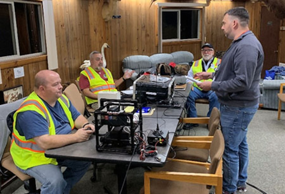 "As the sun went down Oct. 5, Pittsburgh District's Crooked Creek Lake hosted an emergency management training exercise. ""Dark Frost"" was the first event of its kind held in western Pennsylvania with the purpose of improving emergency response skills."
