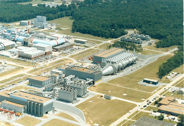 An aerial view shows a portion of Arnold Air Force Base, headquarters of the Arnold Engineering Development Center, during the 1980s. It was 70 years ago this month that President Harry Truman signed into law the bills that allowed for the establishment of AEDC. (U.S. Air Force photo)