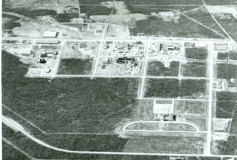 This photo shows Arnold Air Force Base as it appeared during its construction in the 1950s. During the month of October, 70 years ago, President Harry Truman signed into law the bills that allowed for the establishment of what would become Arnold Engineering Development Center, now Arnold Engineering Development Complex. (U.S. Air Force photo)