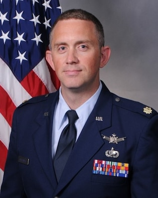 Lt. Col. Daniel Highlander, 23rd Space Operations Squadron commander official biography photo. (U.S. Air Force courtesy photo)