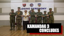 MANILA, Philippines – The Philippines, Japan and the United States conducted the closing ceremony of exercise KAMANDAG 3 at Marine Barracks Rudiardo Brown, Taguig, Manila, Philippines, Oct. 18, 2019.