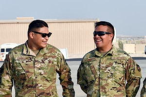 Airmen with the 379th Expeditionary Wing wait to greet members of a congressional delegation arriving at Al Udeid Air Base, Qatar on Oct. 21, 2019. The congressional delegation was led by Speaker of the U.S. House of Representatives Nancy Pelosi. The delegation also included members of the House Committee of Foreign Affairs, House Homeland Security Committee, House Permanent Select Committee on Intelligence, House Armed Services Committee, House Ways and Means Committee and House Committee on Oversight and Government Reform. (U.S. Air Force photo by Tech. Sgt. John Wilkes)
