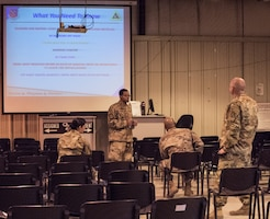 Chief Master Sgt. Bruce visits 379 EFSS Facilties