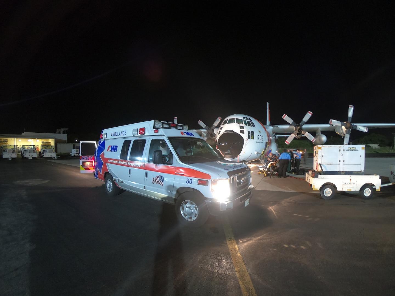 Responders Medically Evacuate Injured Latvian Crewmember from Midway Island