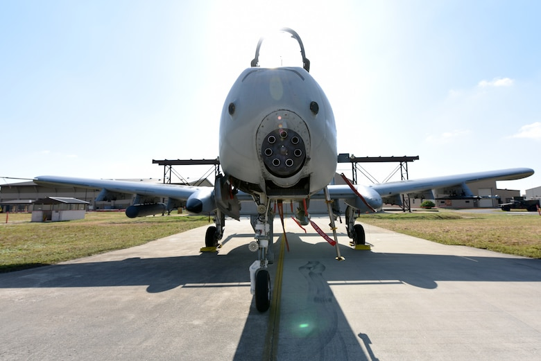A U.S. Air Force A-10 Thunderbolt II aircraft from Osan Air Base, Republic of Korea, is ready to be loaded before the 2019 Penn Fest competition at Kunsan Air Base, ROK, Oct. 19, 2019. The 25th Aircraft Maintenance Unit won the competition when they loaded their aircraft quicker than other teams. (U.S. Air Force photo by Staff Sgt. Joshua Edwards)