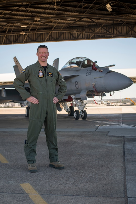 U.S. Air Force Maj. Thomas Larner, Royal Australian Air Force No. 1 Squadron F/A-18F Super Hornet weapon systems officer, is serving as an exchange officer at RAAF Base Amberley, Australia, as part of the U.S. Air Force military personnel exchange program. The exchange program is a special duty assignment that allows Airmen to integrate into military units of foreign allies with the intent of building, sustaining and expanding international relationships. (U.S. Navy photo by Mass Communication Specialist 2nd Class Jeanette Mullinax)
