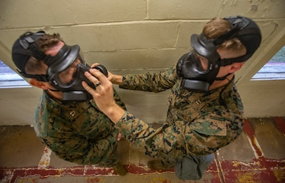 DPC/RSU-East Marines Conduct Gas Chamber Training