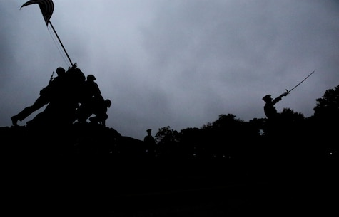 The practice was held in preparation for the upcoming annual Marine Corps Wreath Laying Ceremony at the memorial.