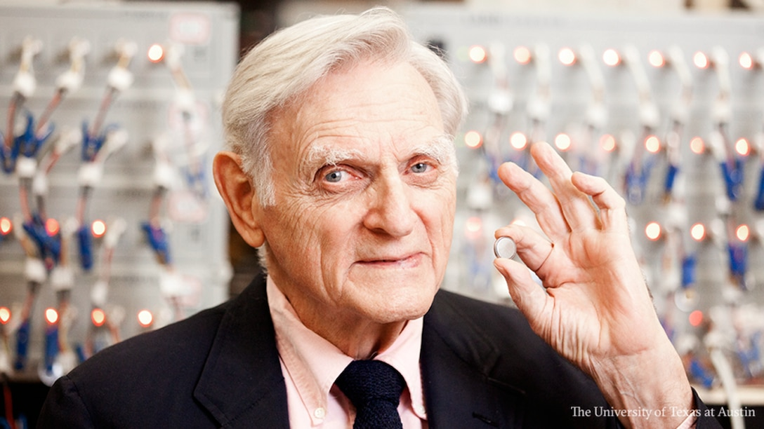"""John B. Goodenough, professor in the Cockrell School of Engineering at The University of Texas at Austin, has been awarded the 2019 Nobel Prize in chemistry – jointly with Stanley Whittingham of the State University of New York at Binghamton and Akira Yoshino of Meijo University – """"for the development of lithium-ion batteries."""" (Courtesy photo/University of Texas at Austin)"""