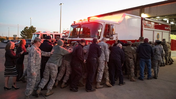 97th CES recives new rescue engine.