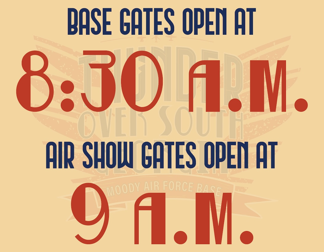Times when the gates open