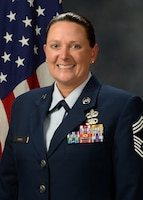 Chief Master Sgt. Laurie J. Doyle is the Western Air Defense Sector senior enlisted leader and the 225th Support Squadron chief enlisted manager. (Courtesy photo)