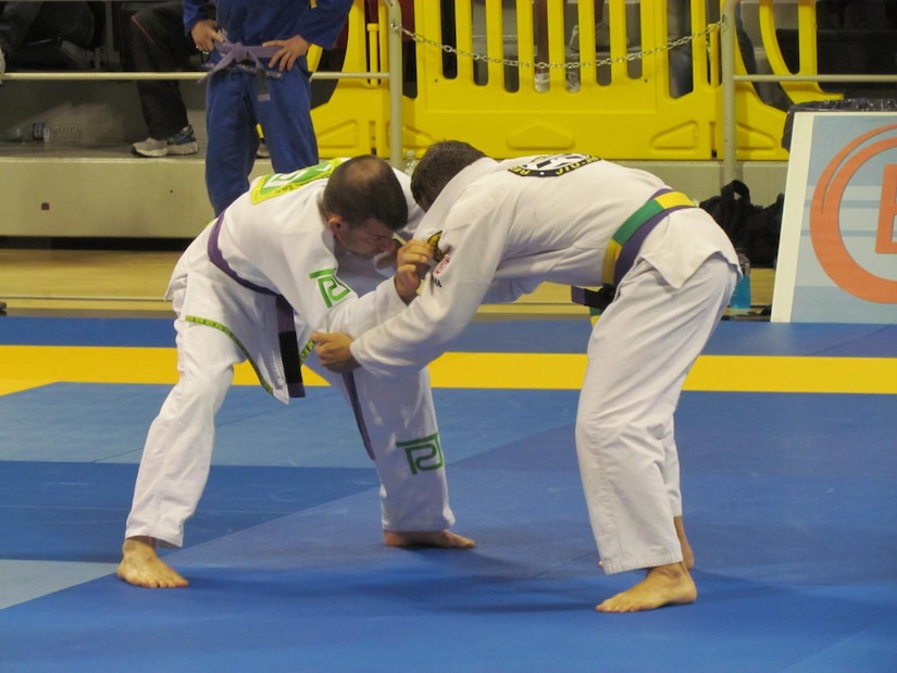 Lt. Col. Caragher, Deputy G-3, 85th U.S. Army Support Command, competes in the at the Master and Senior World International Brazilian Jiu-Jitsu Federation Championship 2012.