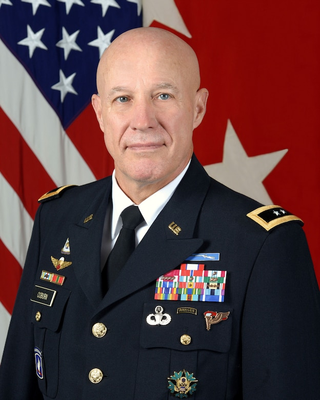 Maj. Gen. David C. Coburn, U.S. Army Financial Management Command, poses for an official photo.