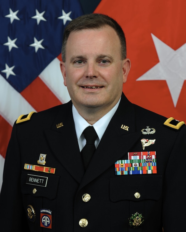 Brig. Gen. Mark S. Bennett poses for an official photo. Bennet will take command of the U.S. Army Financial Management Command in Indianapolis Oct. 25, 2019.