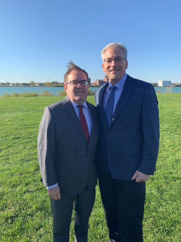 Carl A. Platz, Great Lakes program manager, U.S. Army Corps of Engineers Great Lakes and Ohio River Division, was given the opportunity to speak at EPA Administrator Wheeler's unveiling of Action Plan III October 2019.