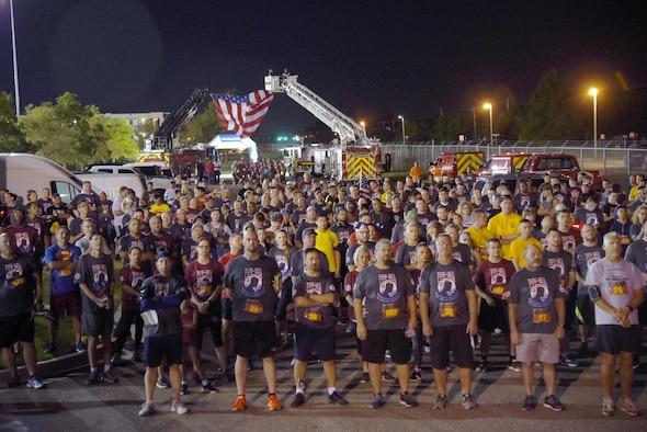 An image of participants prior to the 9/11 POW/MIA Memorial 5K/2K Run/Ruck/Walk