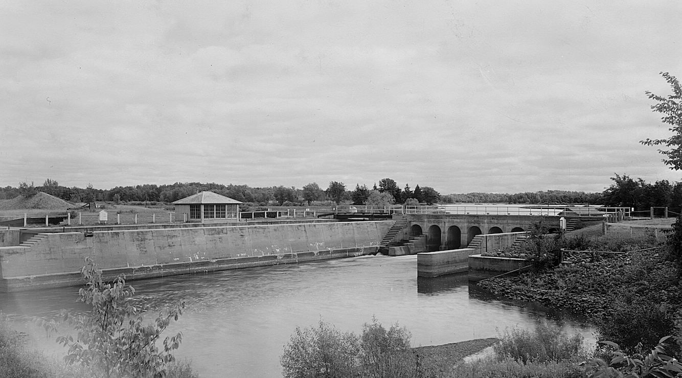 Sandy Lake Lock House, Lock and Dam at Sandy Lake, 1937.