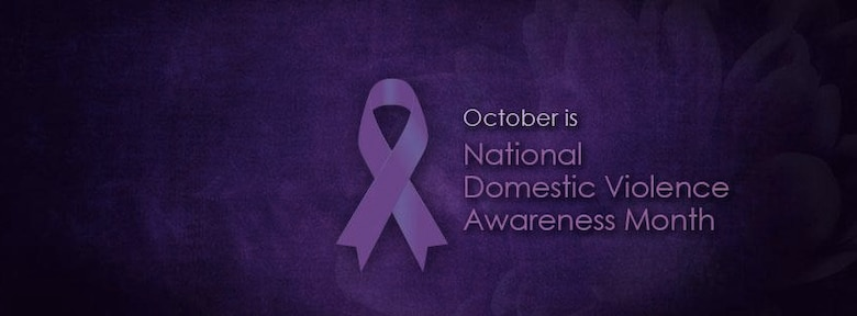 October domestic violence month awareness ribbon