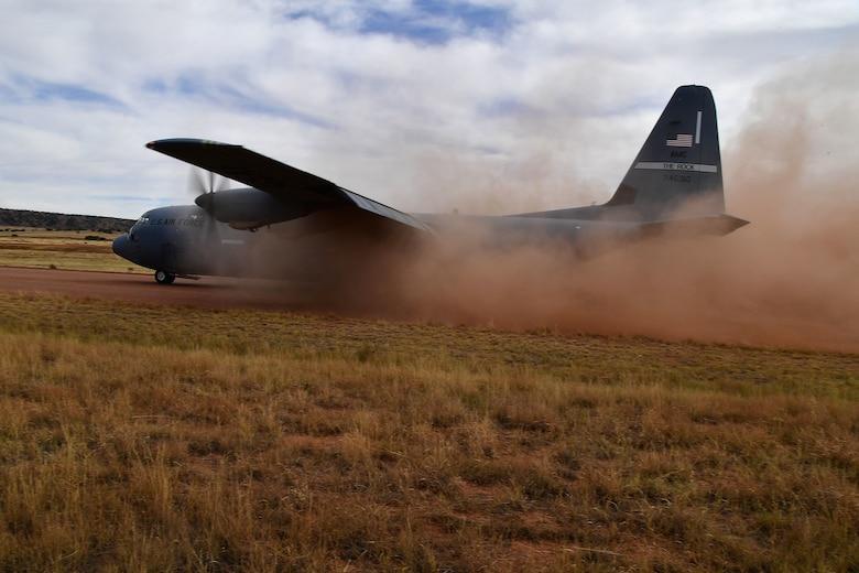 A C-130J Super Hercules prepares to take off