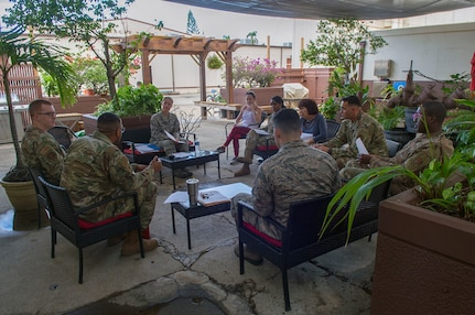 Resiliency: 613th Air Operations Center Hosts First Mindfulness Class