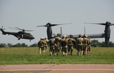 ungarian and U.S. Special Operations Forces began a training engagement 25 October, 2019 at the invitation of Hungarian SOF and through coordination by U.S. and Hungarian governments. U.S. Air Force CV-22Bs recently trained out of Szolnok, Hungary in June 2019 during Trojan Footprint, an annual U.S. Special Operations Command Europe-led exercise, and the Hungarian-led Black Swan exercise as well.