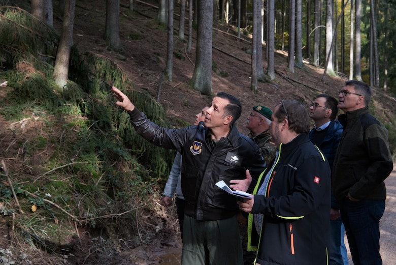 Hokaj answered questions about the site and showed where the aircraft crashed