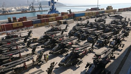 3rd Infantry Division arrives in Volos, Greece in support of Atlantic Resolve