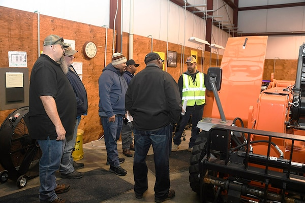 Expeditionary Training Instructor Brian Davidson talks safety officers through pre-use equipment checks Oct. 22.