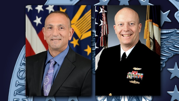 DLA Finance Deputy Director Jeffrey Zottola (left) and Navy Reserve Capt. Charles Parker III, deputy director of DLA's Audit Task Force, stress the importance of risk management and internal controls in the agency's audit efforts in fiscal 2020.
