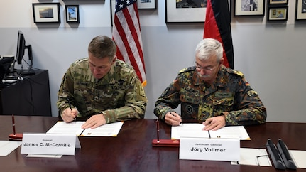 U.S. and German land forces sign bilateral Strategic Vision Statement
