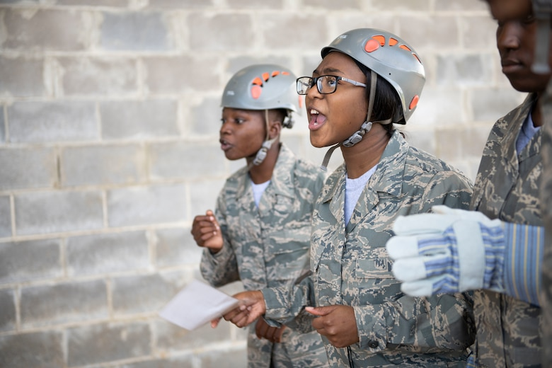 Air Force Junior ROTC cadets participate in the LRC