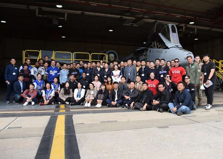 Members of the U.S. and Republic of Korea Air Forces legal teams pose for a group photo during a Friendship Day at Osan Air Base, ROK, October 23, 2019. The purpose of the day was to give both counterparts the opportunity to spend time together and strengthen the ties between the two nations. (U.S. Air Force photo by Senior Airman Denise M. Jenson)