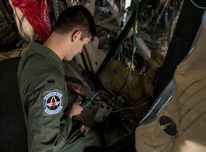 1st. Lt. PJ Didenedetto, a flight nurse assigned to the 43rd Aeromedical Evacuation Squadron from Pope Army Air Field, N.C., fastens tubing on a Transport Isolation System during a TIS training exercise at Joint Base Charleston, S.C., October 23, 2019. The TIS is a device used to transport Ebola patients, either by C-17 Globemaster III or C-130 Hercules, while preventing the spread of disease to medical personnel and aircrews until the patient can get to one of three designated hospitals in the United States that can treat Ebola patients. JB Charleston is currently the only military installation with a TIS. The TIS mission is a sub-specialty of the aeromedical evacuation mission which requires frequent training to maintain readiness.