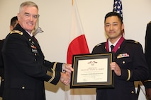 Japan Ground Self-Defense Force Medical Liaison Officer Inducted into Order of Military Medical Merit