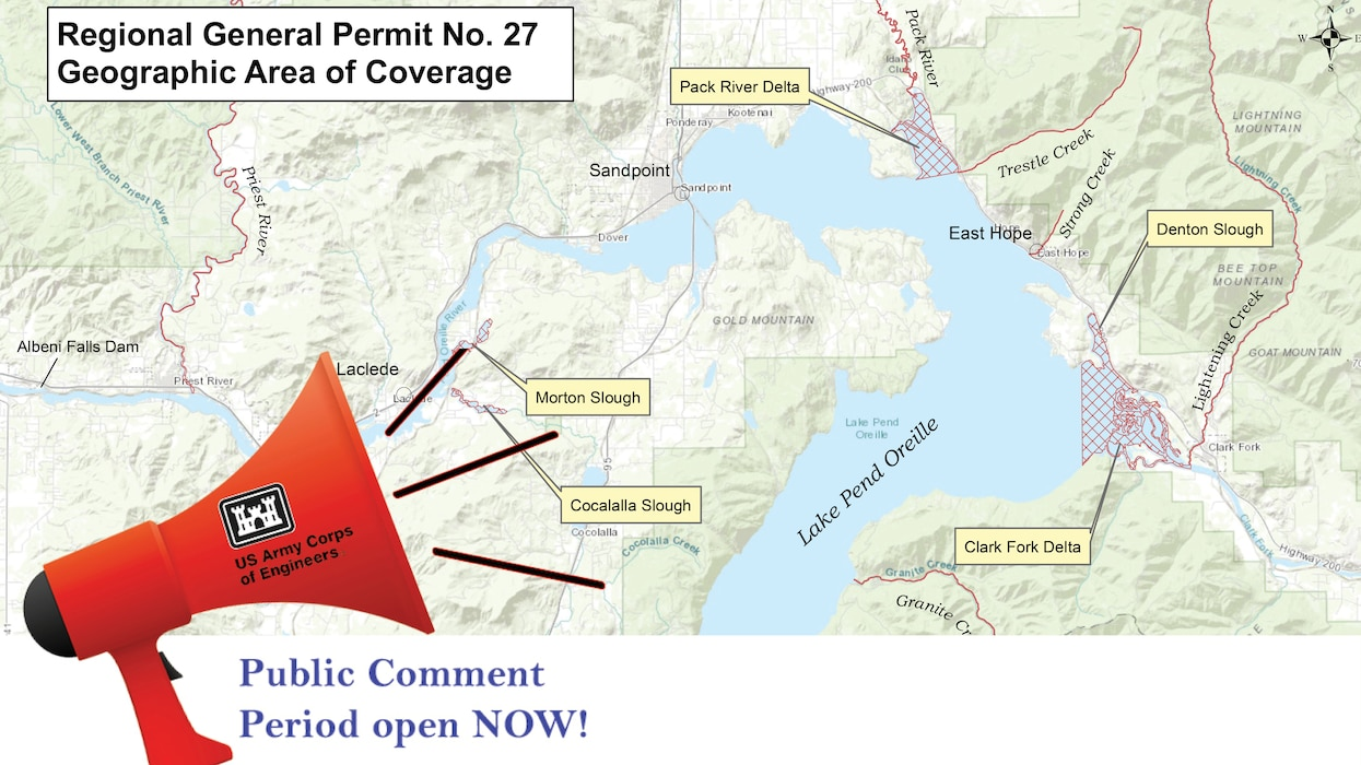 The Walla Walla District of the U.S. Army Corps of Engineers is soliciting public comment on a proposal to re- issue Regional General Permit 27 (RGP-27) to authorize certain work in navigable waters of the United States in Lake Pend Oreille and the Pend Oreille River within the State of Idaho.