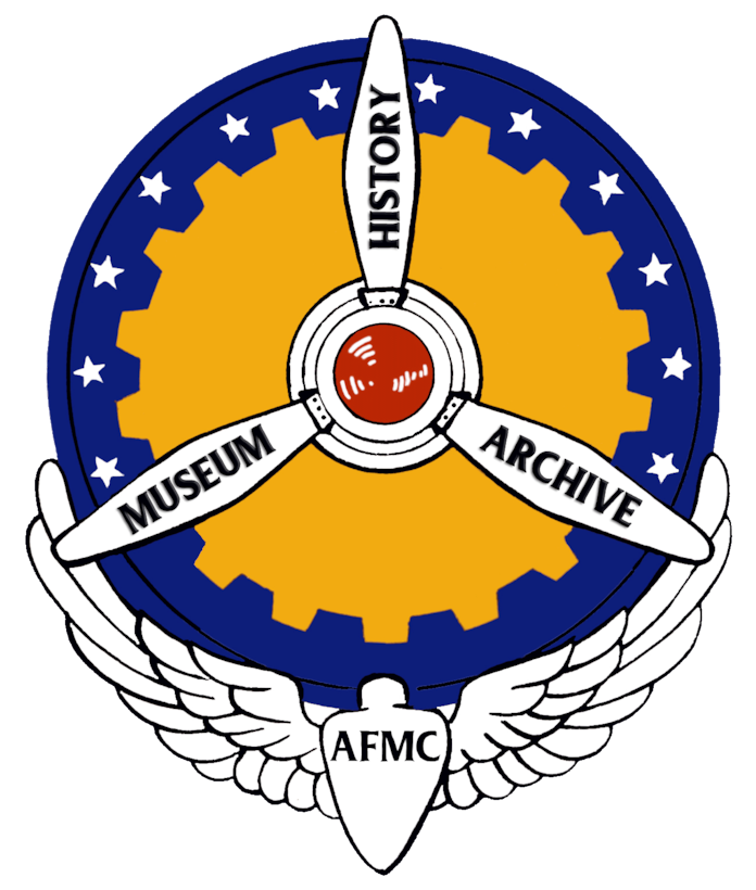 The Air Force Materiel Command History Office logo, representing the three-part mission of the program. The AFMC History Office was named the recipient of the Air Force History and Museums Program's Excellence in History Program Award, Major Command level, for 2019.