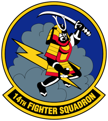 "The Air Force approved the 14th Fighter Squadron ""Fighting Samurai"" emblem on January 7, 1993. The Air Force assigned the squadron under the 35th Fighter Wing, 35th Operations Group on October 1, 1994. (Graphic courtesy of U.S. Air Force)"