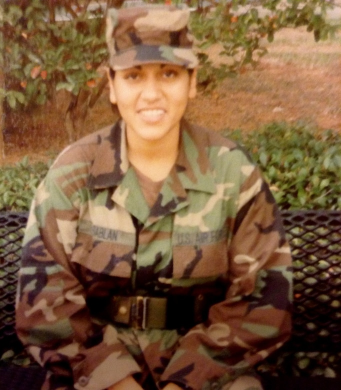 Retired Chief Master Sgt. Leenette Joseph, former U.S. Air Forces in Europe – Air Forces Africa Equal Opportunity functional manager, is pictured early in her career.