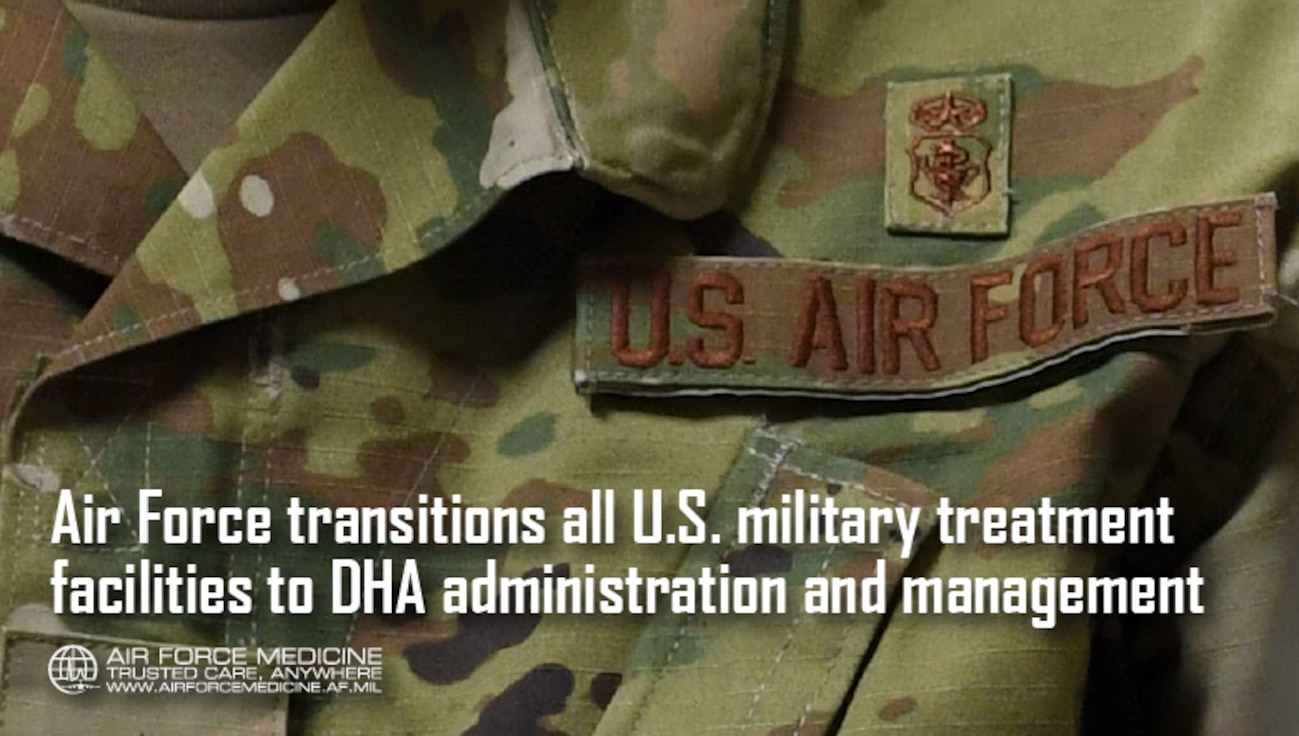 This October, U.S.-based Air Force military treatment facilities transferred administration and management to the Defense Health Agency. (U.S. Air Force illustration)