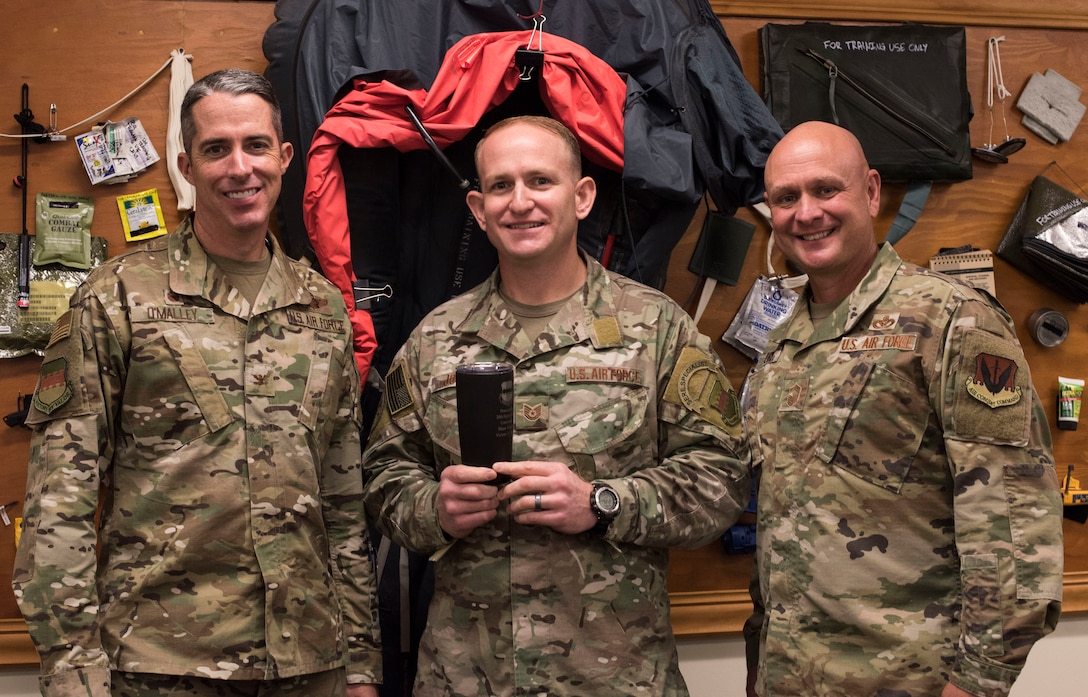 U.S. Air Force Tech. Sgt. David Jones, 20th Operations Support Squadron noncommissioned officer in charge of operations, weapons and tactics, is recognized as this week's Weasel of the Week (WOW) at Shaw Air Force Base, South Carolina, Oct. 21, 2019.