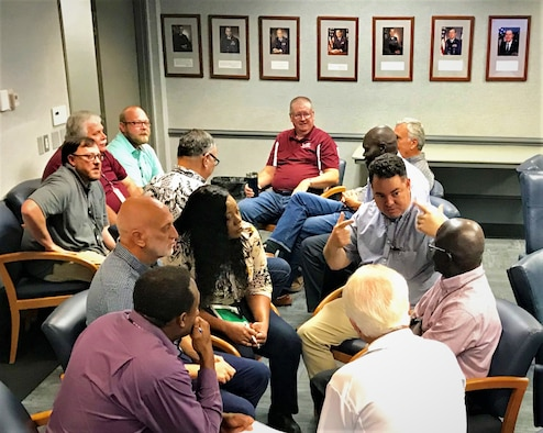 Recently, various members of the Air Force Civil Engineer Center at Tyndall Air Force Base, Fla., gathered in small groups as part of the mandatory Tactical Pause initiative.