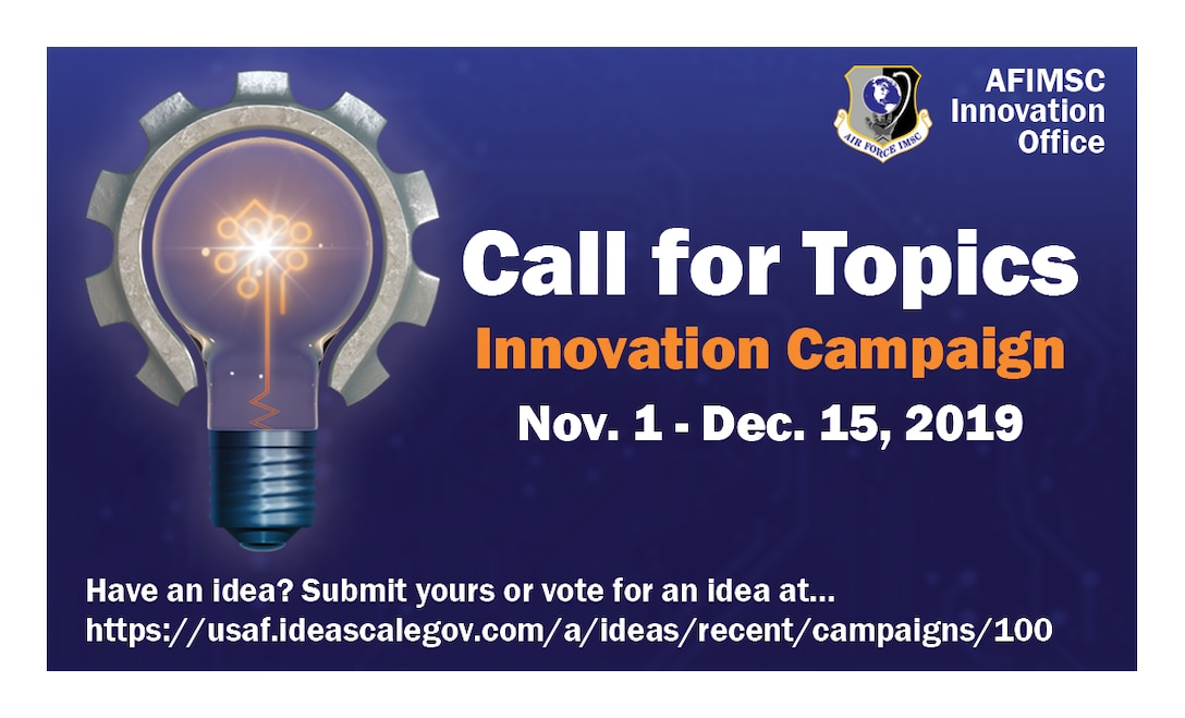 The Air Force Installation and Mission Support Center kicks off its second annual Innovation Rodeo with a call-for-topics campaign Nov. 1.