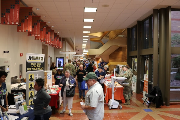 Retirees visited many booths and services during Joint Base San Antonio's Military Retiree Appreciation Day Oct. 19, hosted by Brooke Army Medical Center.