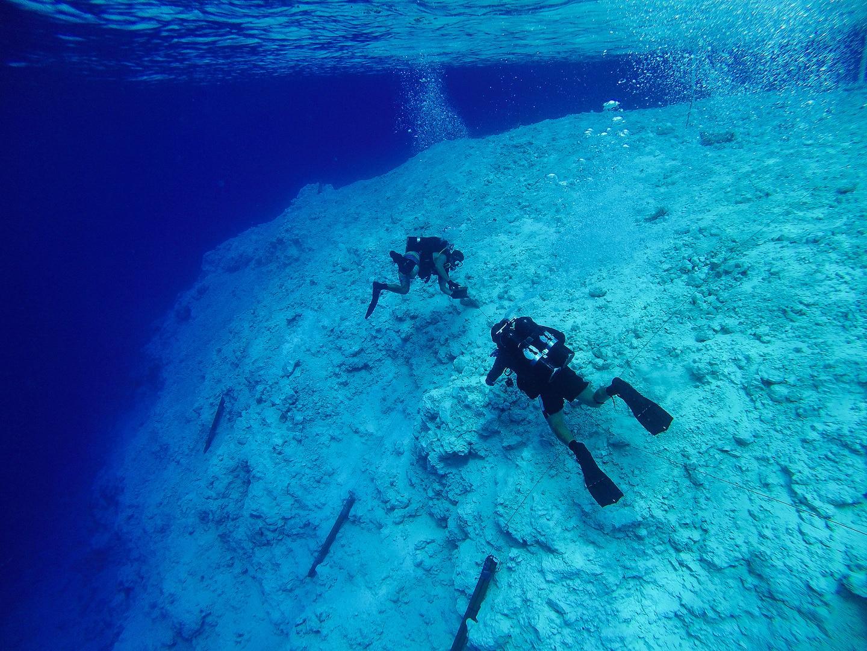 Navy Underwater Construction Team Widens Channel in Micronesia