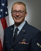 Official photo of A1C Scott Davis, percussionist with the United States Air Force Band of Mid-America