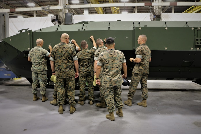 Marines meet the makers of the Amphibious Combat Vehicle