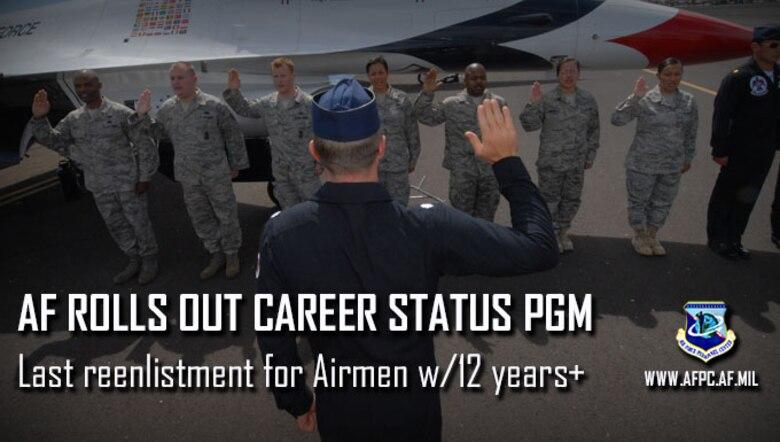 AF rolls out Career Status Program