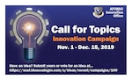 The Air Force Installation and Mission Support Center kicks off its second annual Innovation Rodeo with a call-for-topics campaign Nov. 1. The campaign, open through Dec. 15, gives military and civilian members of mission support groups worldwide a chance to win part of $1 million in funding and resources to implement their ideas. (U.S. Air Force graphic by Jim Martinez)